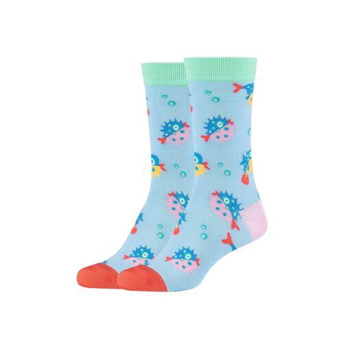 Fun Socks Socken (2-Paar) mit lustigem Kugelfisch-Muster