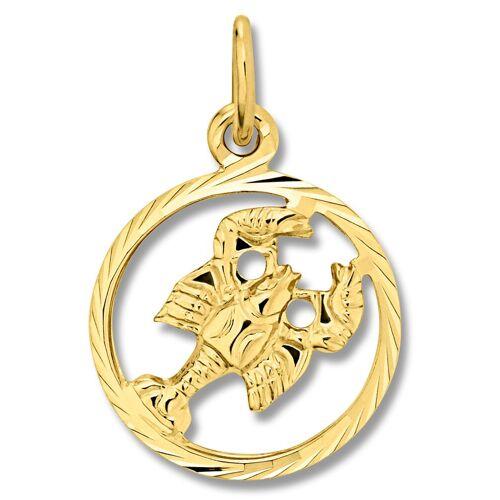 ONE ELEMENT Sternzeichenanhänger »Sternzeichen Anhänger Krebs aus 333 Gelbgold«