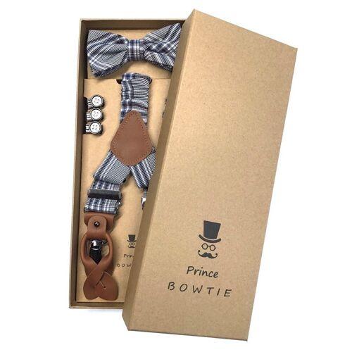 Prince Bowtie Hosenträger »Hosenträger Set mit Fliege im Vintage Style« Hosenträger Set mit Fliege im Vintage Style