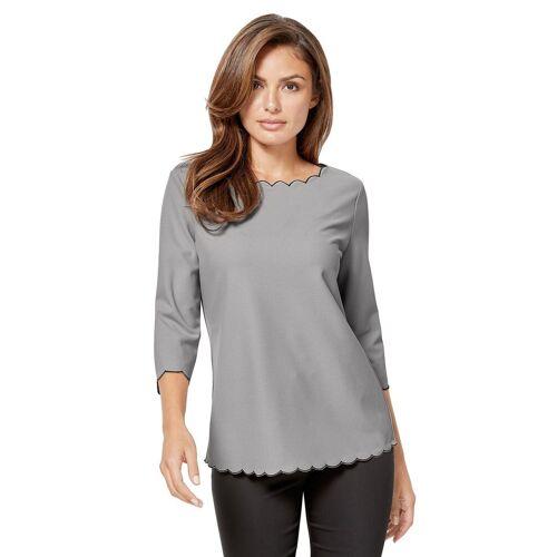 Lady 3/4-Arm-Shirt, silberfarben-grau-silbergrau