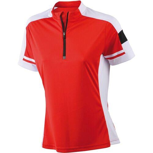 James & Nicholson Radtrikot »JN 451 Damen Rad Shirt mit 1/2 Zip, Trikot« leicht und komfortabel, red
