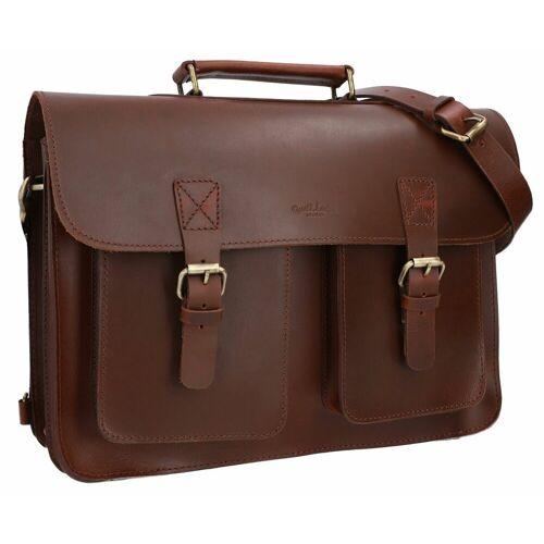 Gusti Leder Aktentasche »Keld« (1-tlg), Businesstasche Ledertasche Rucksack Rucksackfunktion 2in1