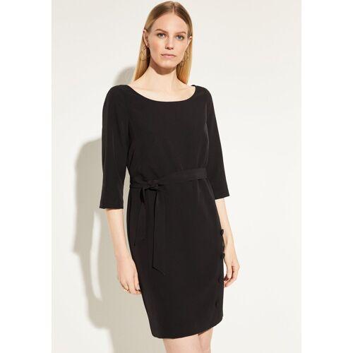 Comma Minikleid »Kleid mit Zierknöpfen und Bindegürtel« Zierknopf