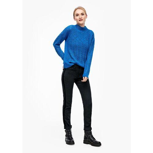 s.Oliver Stoffhose »Shape Slim: Jeans mit Samt-Tape« (1-tlg)
