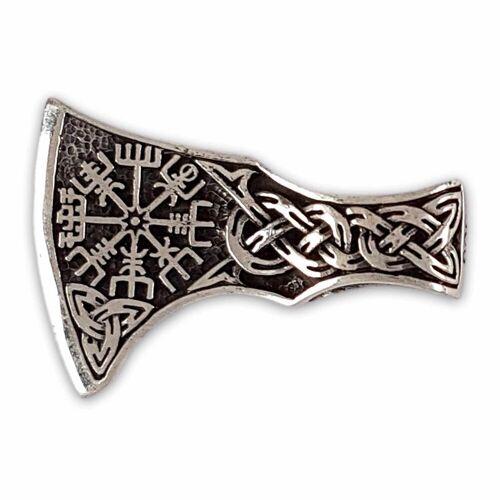 KUNST UND MAGIE Amulett »Wikinger Axt mit Wikinger Kompass Anhänger Amulett Silber 925«
