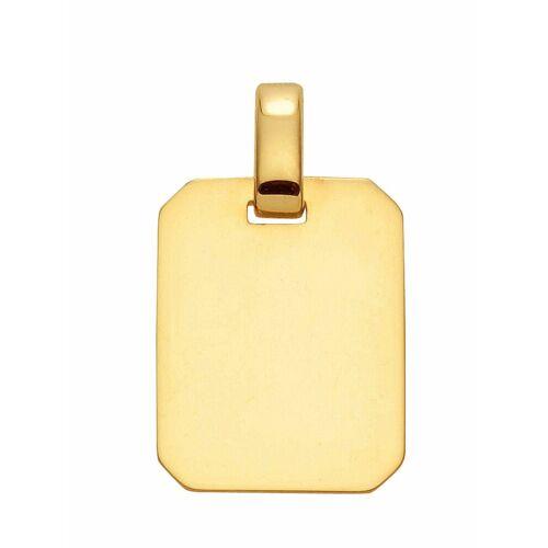 Adelia´s Kettenanhänger »333 Gold Gravurplatte Anhänger«