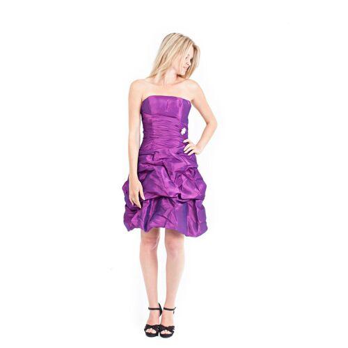AvaMia Cocktailkleid »-1141-Kleid« Cocktailkleid, Festliches Taft Abendkleid, Kleid, Länge knielang, Lila