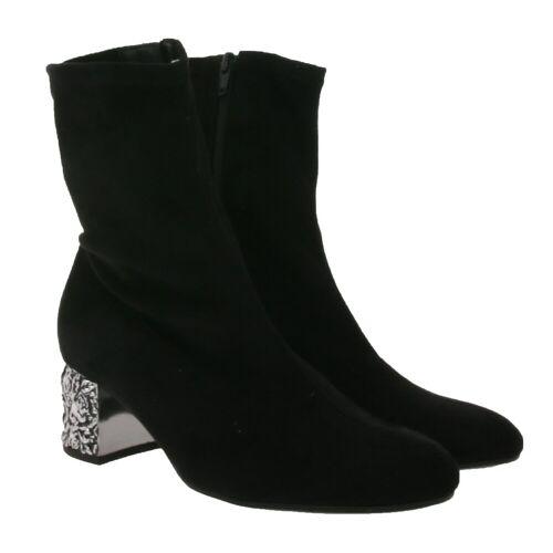 Gabor »Stiefelette außergewöhnlicher Damen Ausgeh-Schuh in Veloursleder-Optik Herbst-Stiefel Schwarz« Stiefelette