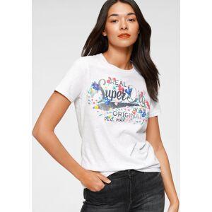 Superdry Print-Shirt »REAL ORIGINALS FLORAL TEE« Mit floralem Vintage Logo Print, grau-bedruckt