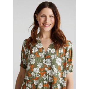 Esprit Blusenkleid mit Knöpfen und Falten-Details