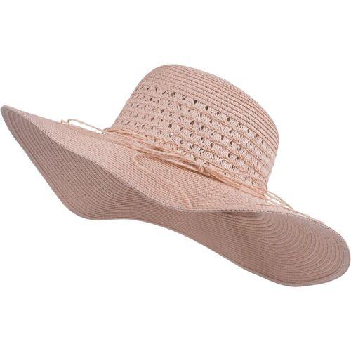 styleBREAKER Sonnenhut »Großer Sonnenhut mit Hutband und Schleife Strohhut« Großer Sonnenhut mit Hutband und Schleife Strohhut, Altrose