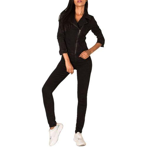 Simply Chic Jumpsuit »2958« Damen Jeans Hosenanzug, Schwarz