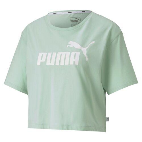 Puma T-Shirt »Damen Cropped Logo T-Shirt«, green