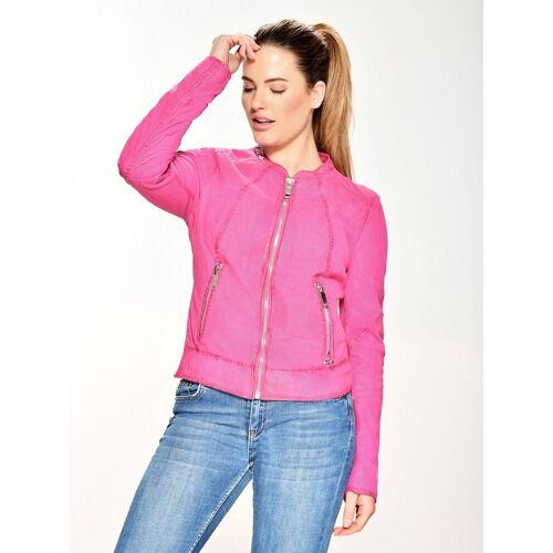 Maze Lederjacke perforiert »Mabel«, pink