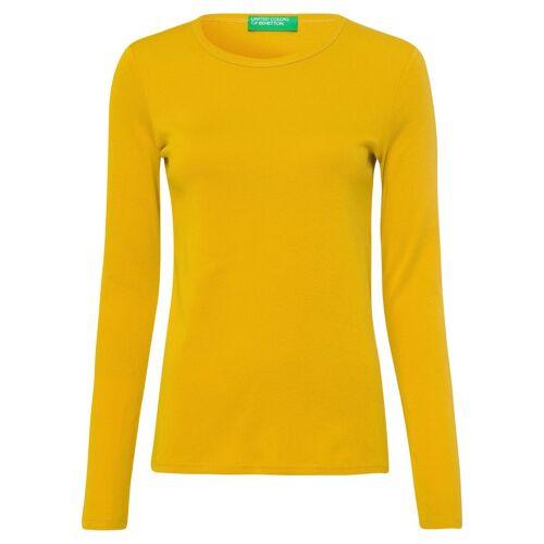 United Colors of Benetton Langarmshirt im Basic-Look, senf