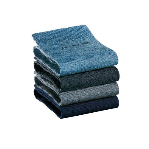 H.I.S Socken (4-Paar) ohne einschneidendes Bündchen, marine   jeans
