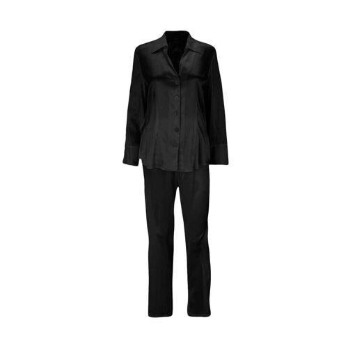 Eva B.Bitzer Pyjama »Seiden-Pyjama«, schwarz