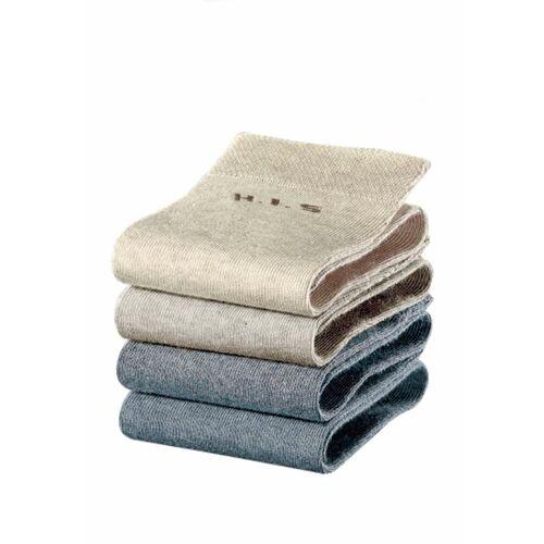 H.I.S Socken (4-Paar) ohne einschneidendes Bündchen, grau   jeans   beige   grau