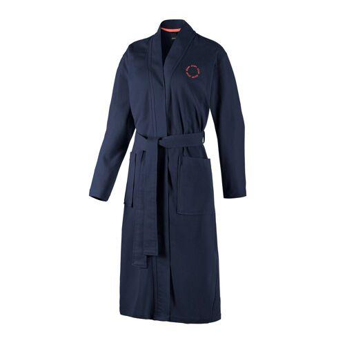 Joop! Bademantel »Damen Bademantel - Kimono, Logo, Baumwolle«, , Blau