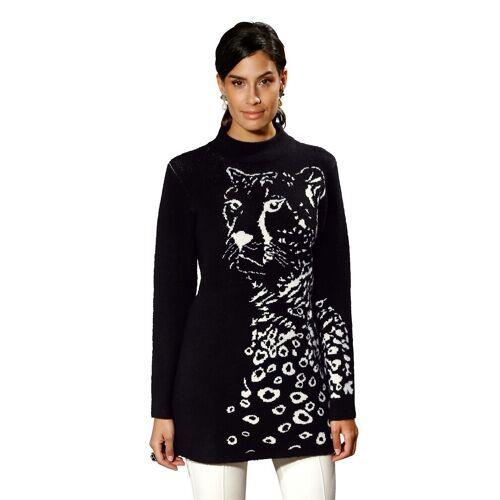 Amy Vermont Longpullover mit Leoparden-Motiv