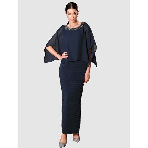 Paola Abendkleid in 2-in-1-Optik, Marineblau