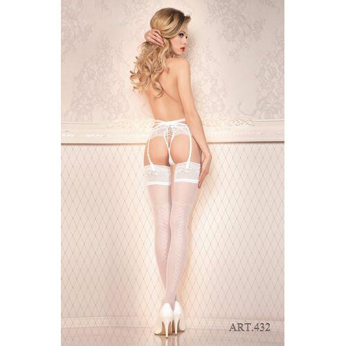 Ballerina Strapsstrümpfe »Strümpfe weiß 20 DEN FaS432«