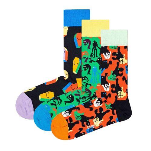 Happy Socks Kurzsocken »3er Pack Unisex Socken, Geschenkbox«