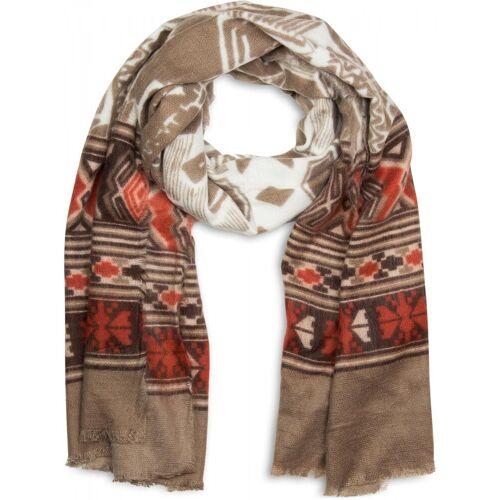 styleBREAKER Schal »Breiter Schal mit Azteken Ethno Muster« Breiter Schal mit Azteken Ethno Muster, Braun-Beige-Rot-Weiß