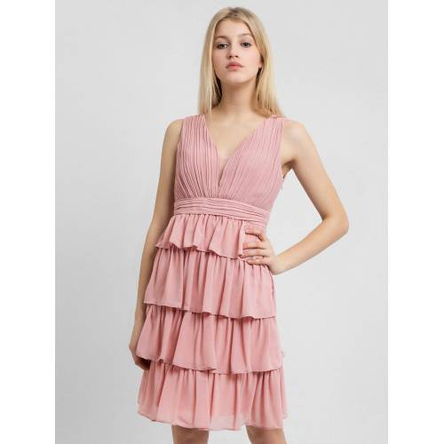 Apart Abendkleid mit Volants im Rockpart, rosa