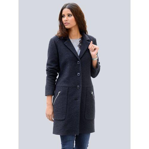 Alba Moda Mantel aus hochwertiger Wollmischung, Blau