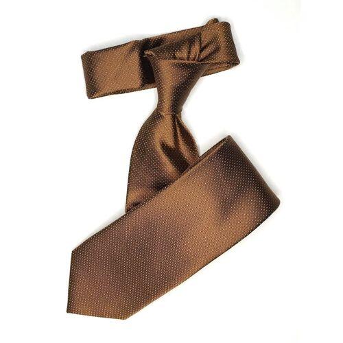 Seidenfalter Krawatte »6cm Picoté Krawatte« Krawatte im edlen Picoté Design, Cognac