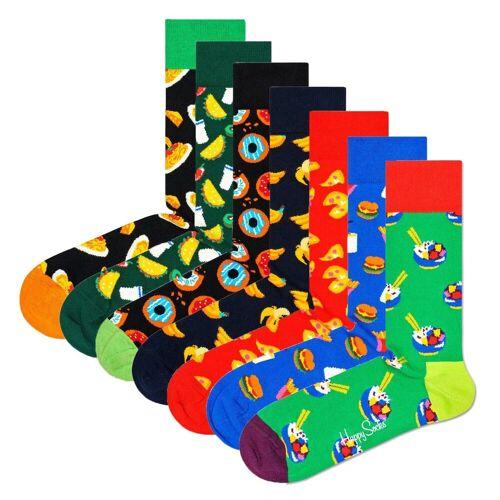 Happy Socks Kurzsocken »7er Pack Unisex Socken, Geschenkbox«