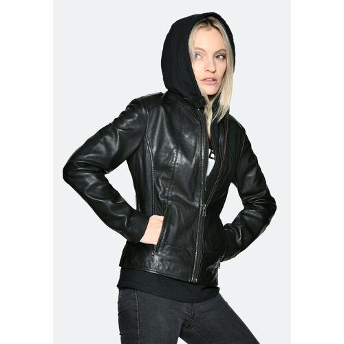 JCC Lederjacke »31020359« sportlich, black