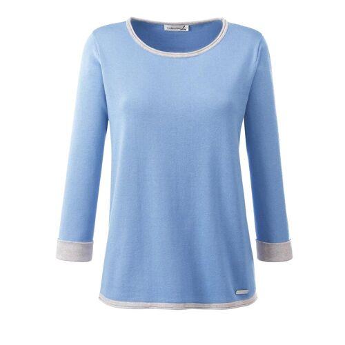 Casual Looks 3/4 Arm-Pullover, blau-grau