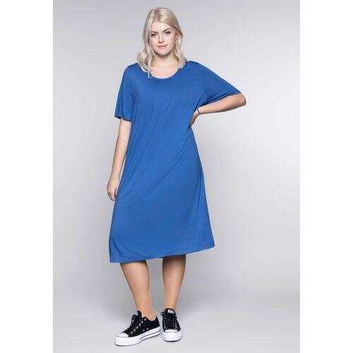 Sheego Shirtkleid in figurschmeichelnder A-Linie, azur