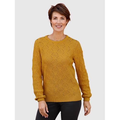 Paola Pullover mit Strickmuster, Gelb
