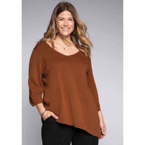 Sheego 3/4 Arm-Pullover mit asymmetrischen Saum
