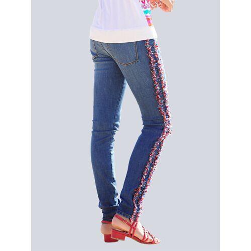 Alba Moda Jeans mit Galonstreifen, blue