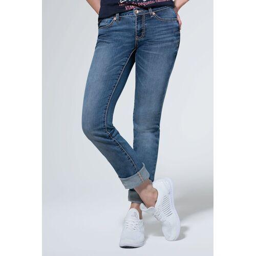 SOCCX Regular-fit-Jeans mit Turn-Up Saum