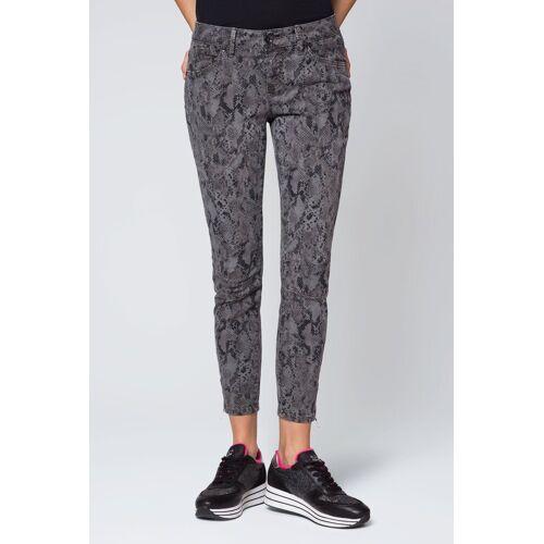 SOCCX Slim-fit-Jeans »EL:LA« mit All Over Print