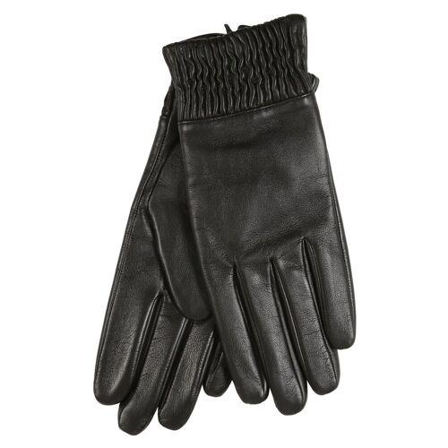 er piu Lederhandschuhe mit praktischem Bündchen, schwarz