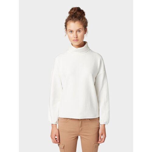 TOM TAILOR Denim Sweater »Oversized Sweatshirt mit Turtleneck«, white