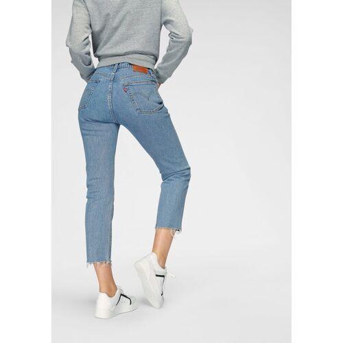 Levi's® Slim-fit-Jeans »501 CROP« mit offenem Saum