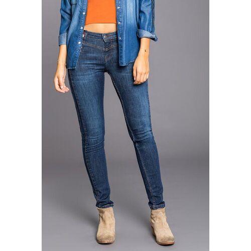 BLUE FIRE Jeans mit modischem Bunddetail »Carly«, 470 clean blue