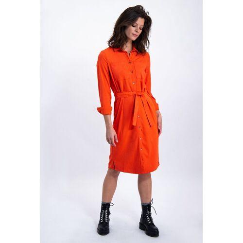 Garcia A-Linien-Kleid mit Taillenband, rot