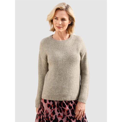 Dress In Pullover mit körniger Strickqualität, Natur
