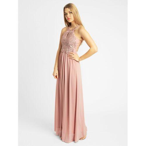 Apart Abendkleid aus Spitze und Chiffon, rosé