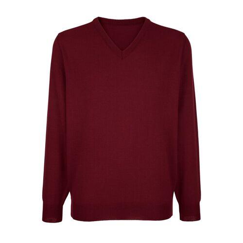 Roger Kent V-Ausschnitt-Pullover mit V-Ausschnitt, Rot