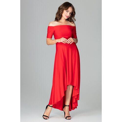 LENITIF Abendkleid im eleganten Look, Red