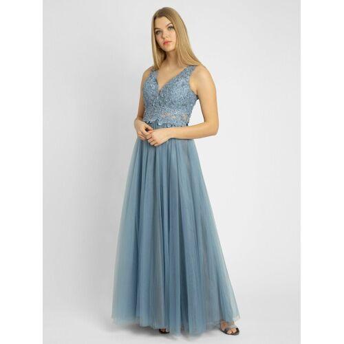 Apart Abendkleid aus Tüll und Spitze, hellblau